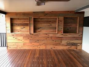 Deck wall using A Grade Boards